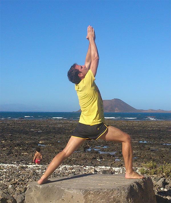Jesús Medina, yoga en fuerteventura