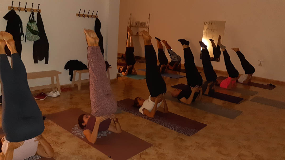 alumnos de Yoga en Fuerteventura