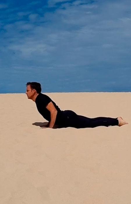 Yoga en las dunas
