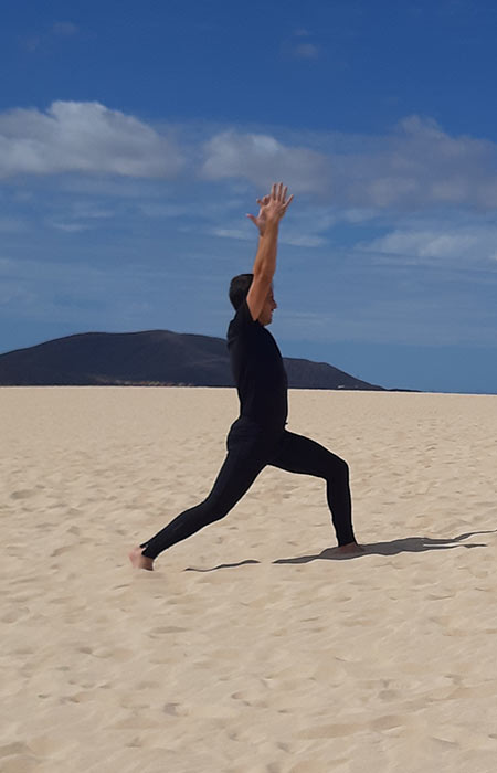 Yoga en fuerteventura dunas