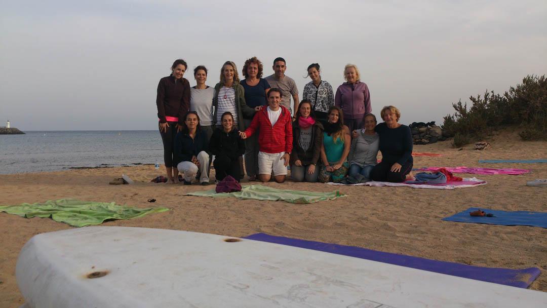 Familia del Yoga en Fuerteventura